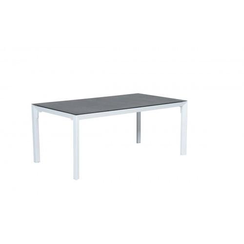 Salsa Tisch 180x100 Mat White Spraystone Grey Dining Gartentisch 3